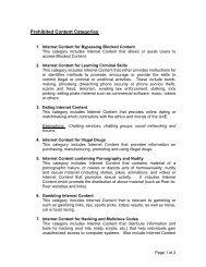 Prohibited Content Categories - Etisalat