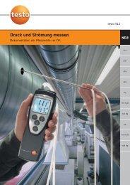 Druck und Strömung messen - Testo AG