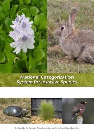 National Categorisation System for Invasive Species - Weeds Australia
