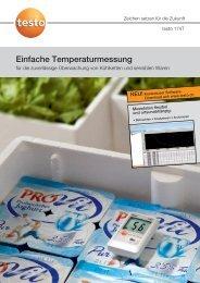 Einfache Temperaturmessung - Testo AG