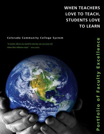 Portfolio of FACULTY EXCELLENCE - Colorado Community ...