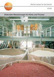 Stationäre Messlösungen für Klima und Prozess - Testo AG