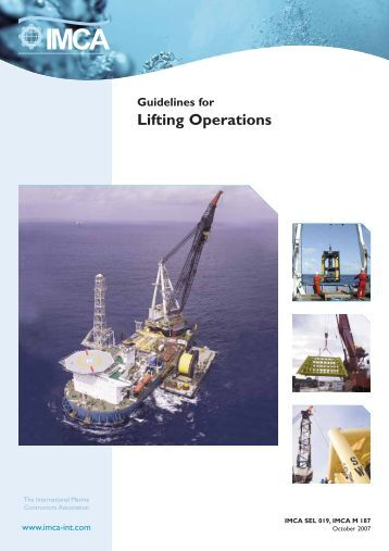 IMCA M187 - Guidelines for Lifting Operations - OGP
