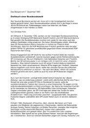 Drehbuch einer Bundesratswahl - Text und Auftritt