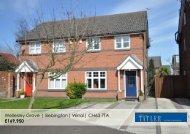 Wellesley Grove | Bebington| Wirral| CH63 7TA £169,950 - Vebra