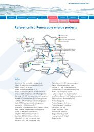 Reference list: Renewable energy projects - water service group