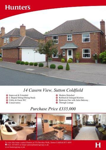 Purchase Price £335,000 14 Casern View, Sutton Coldfield