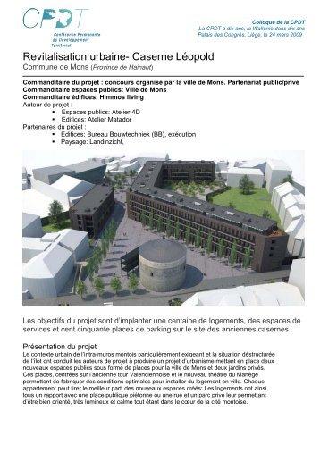 Revitalisation urbaine- Caserne Léopold - CPDT Wallonie