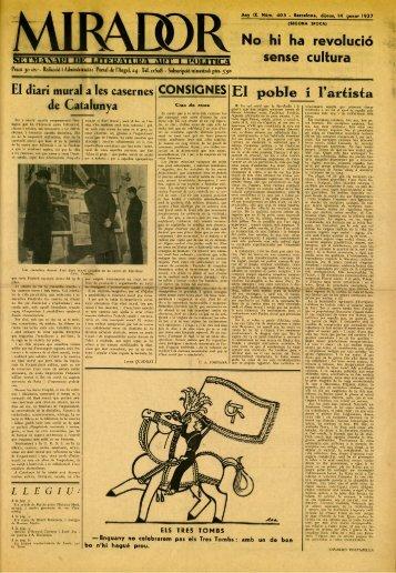 El diari mural a les casernes CONSIGNES EI poble i 1'ar^ísfa