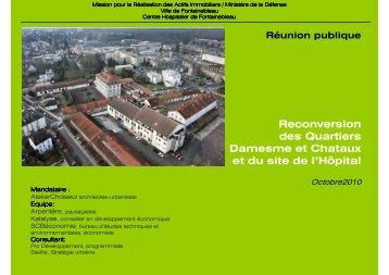 Casernes nord & hôpital Réunion publique 21 10 10 - Fontainebleau