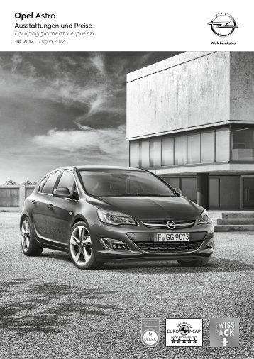Pacchetti e opzioni 3 - GM Suisse SA - Opel