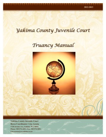 Yakima County Juvenile Court Truancy Manual