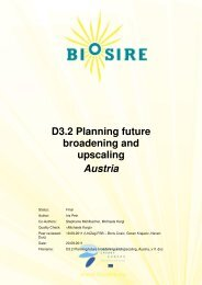 D3.2 Planning future broadening and upscaling Austria - biosire