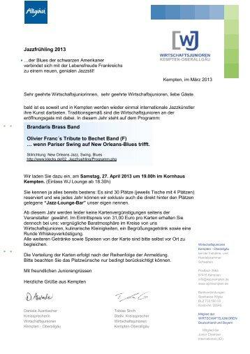 Jazz 2013 - Wirtschaftsjunioren Kempten-Oberallgäu