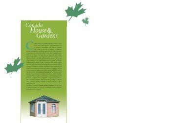Catalogo casette da giardino canadesi - Canada House & Gardens