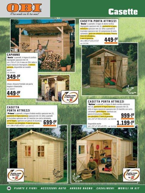 giardino obi legno e casette