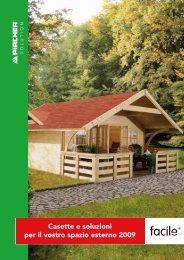 Casette e soluzioni per il vostro spazio esterno 2009 - Bricofer