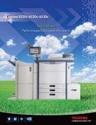 Download Spec Sheet - Toshiba America Business Solutions
