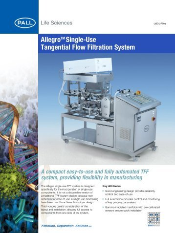 AllegroTM Single-Use Tangential Flow Filtration ... - Pall Corporation