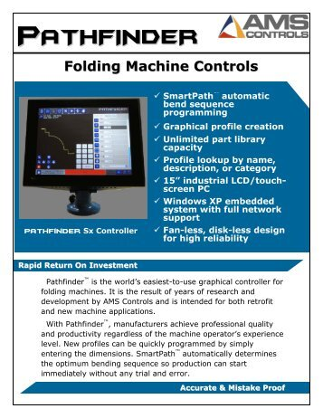 Folding Machine Controls - Thalmann AG