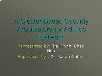 A Cluster-Based Security Architecture for Ad Hoc Network