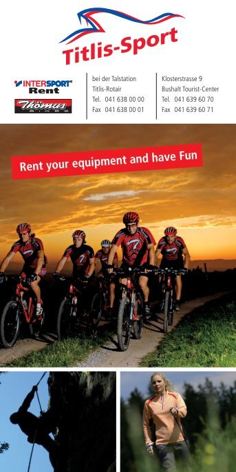 Rent your equipment and have Fun - Titlis Sport Engelberg
