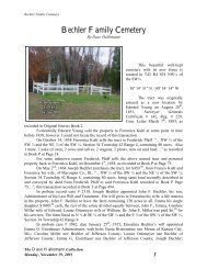Bechler Cemetery - RootsWeb