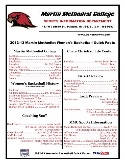 Quick Facts - Martin Methodist College