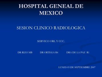 caso clinico - Hospital General de México