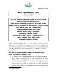 Human Rights Monitoring Report - Odhikar