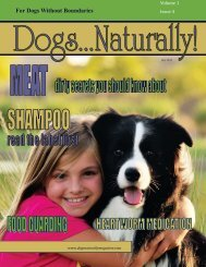 July/August 2010 - Dogs Naturally Magazine