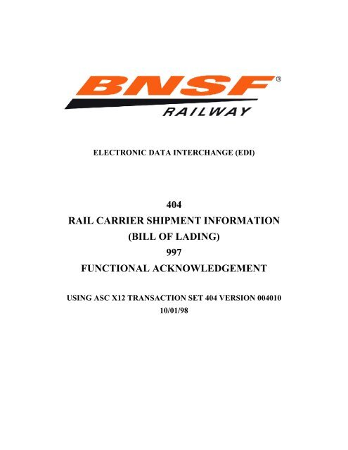 BNSF 404 & 997 (4010) Guidelines - BNSF com