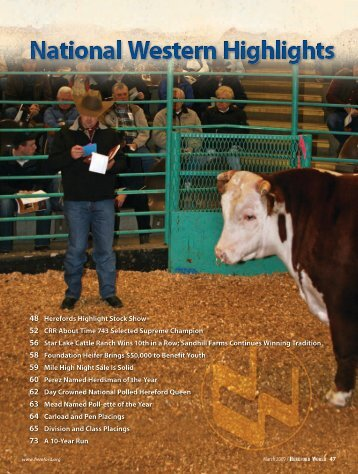 March 2009 - American Hereford Association
