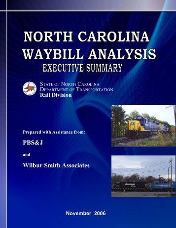 PBS&J Wilbur Smith Associates - NCDOT Rail Division