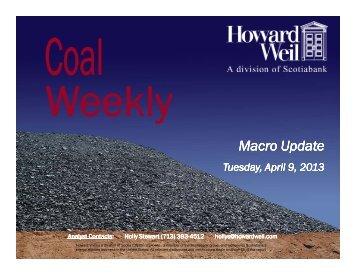 Weekly Coal Macro - Howard Weil