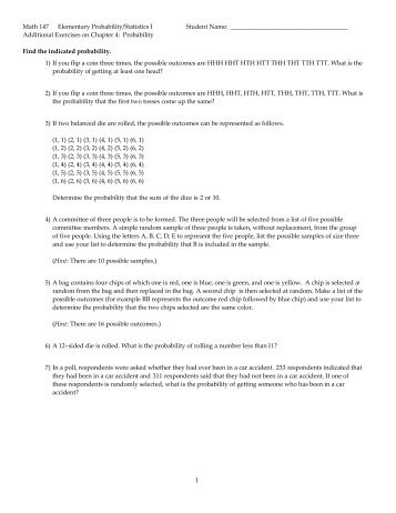 answer key test  math 147 additional exercises on chapter 4 pdf uc blue ash