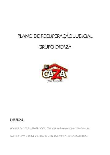 PLANO DE RECUPERAÇÃO JUDICIAL GRUPO DICAZA