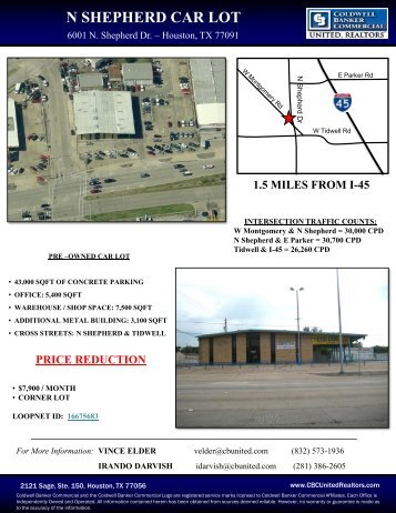 N SHEPHERD CAR LOT - Houston Commercial Real Estate