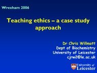 Teaching ethics – a case study approach - Centre for Bioscience ...