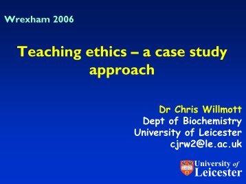 Case studies for teaching ethics