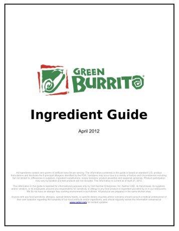 Ingredient Guide - Carl's Jr.