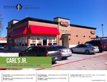 Carl's Jr. Ground Lease - Capital Pacific