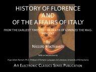 History of Florence - Penn State University