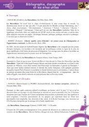 Bibliographie, discographie et les sites utiles - Académie de Créteil