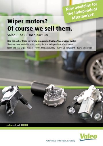Wiper motors? Of course we sell them. - Valeo