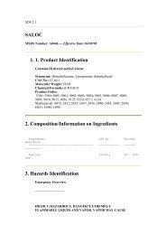 SALOC 1. 1. Product Identification 2. Composition ... - UNITAR