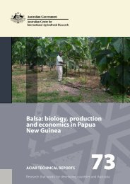 Balsa: biology, production and economics in Papua New Guinea
