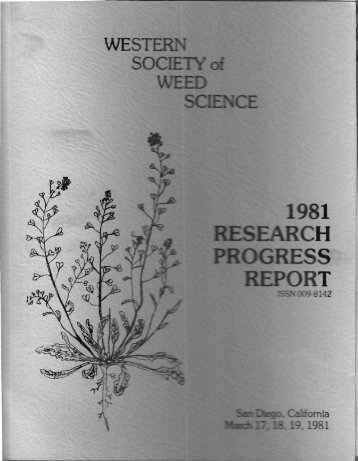 1981 - Western Society of Weed Science