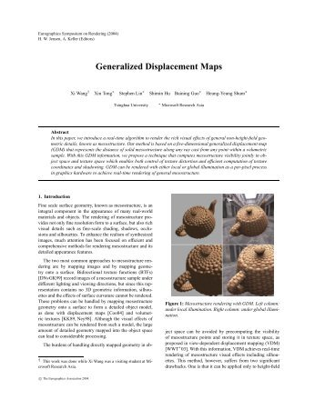 Generalized Displacement Maps - Graphics & Geometric Computing ...