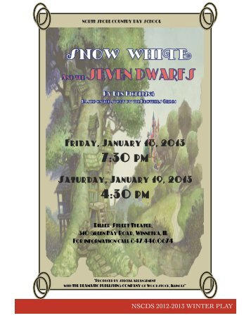 """""""Snow White and the Seven Dwarfs"""" (Download PDF - North Shore ..."""